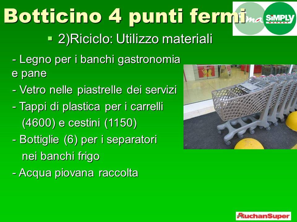 2)Riciclo: Utilizzo materiali