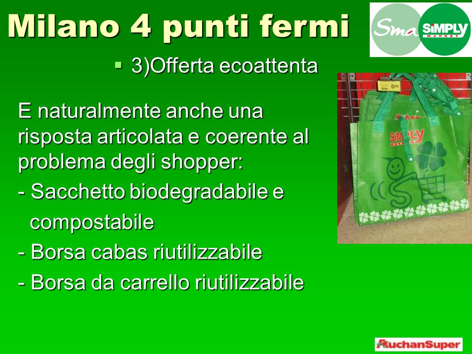Milano 4 punti fermi 3)Offerta ecoattenta