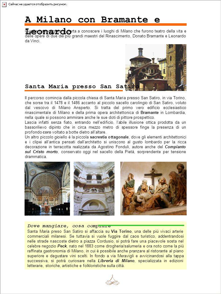 A Milano con Bramante e Leonardo