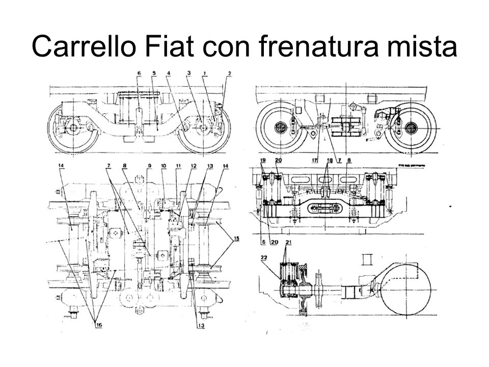 Carrello Fiat con frenatura mista