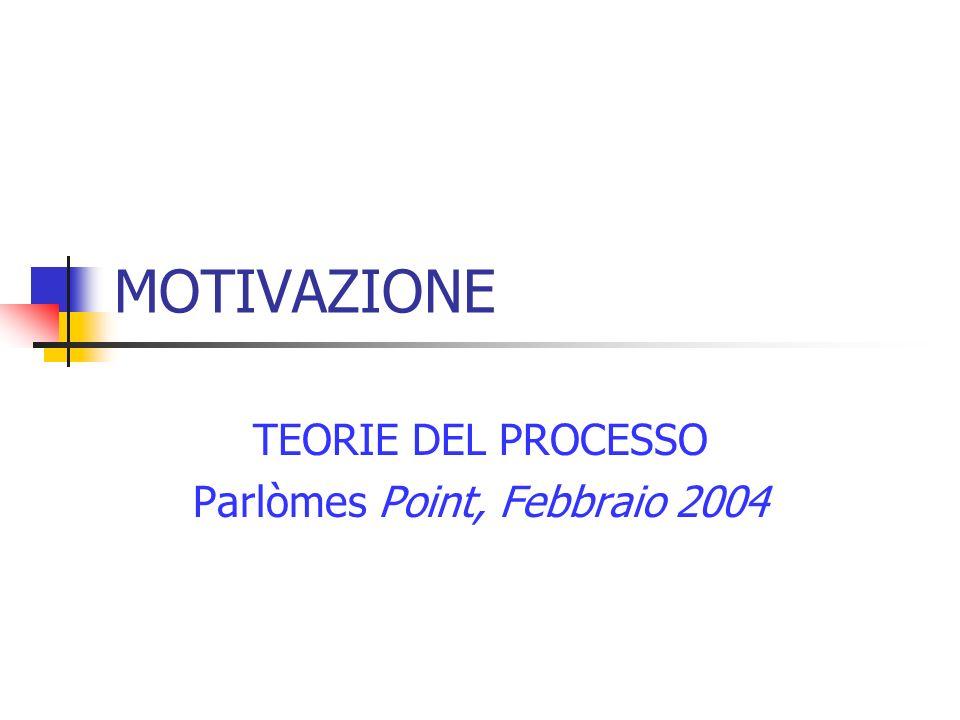 TEORIE DEL PROCESSO Parlòmes Point, Febbraio 2004