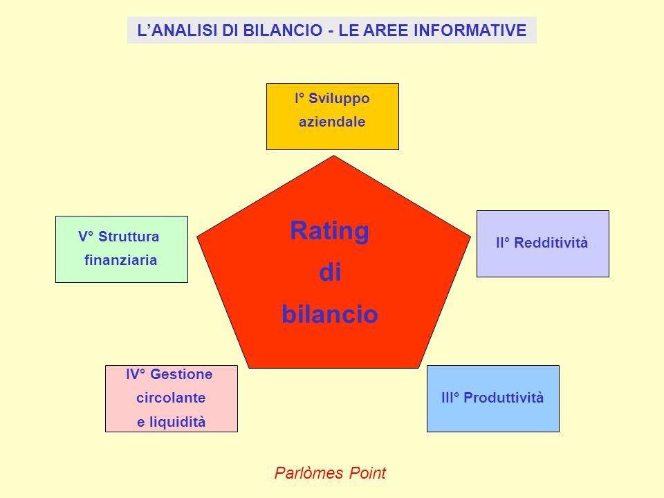 L'ANALISI DI BILANCIO - LE AREE INFORMATIVE
