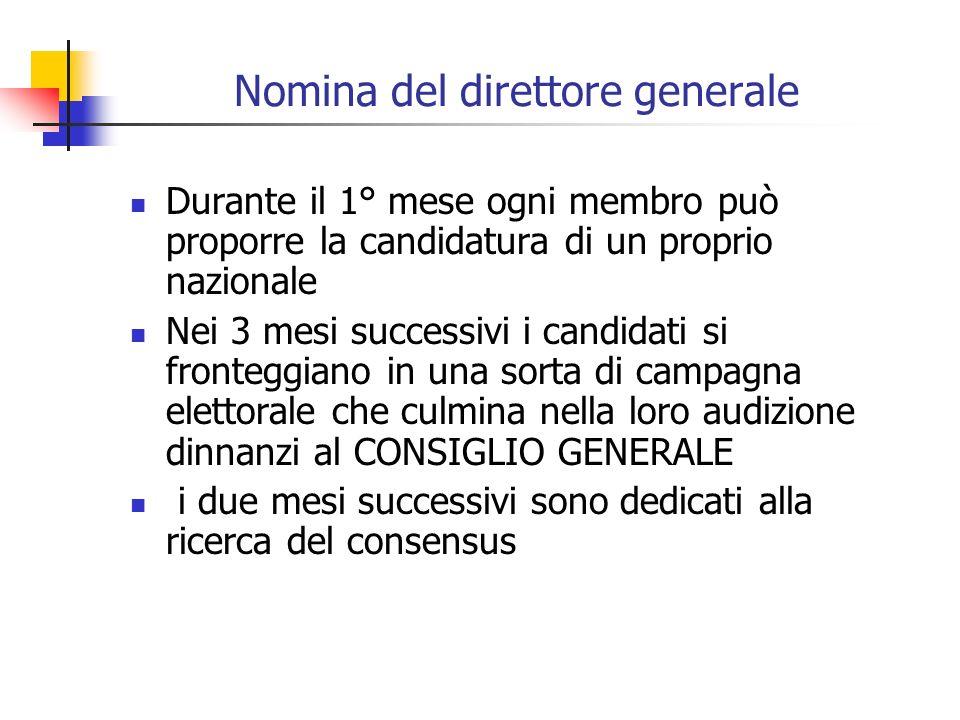 Nomina del direttore generale
