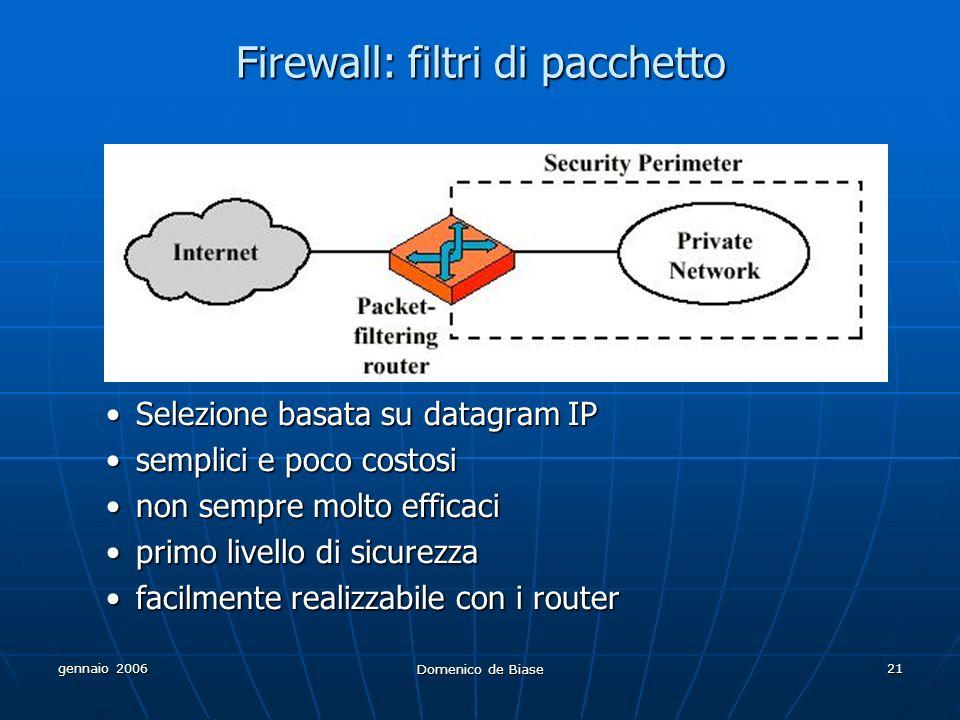 Firewall: filtri di pacchetto