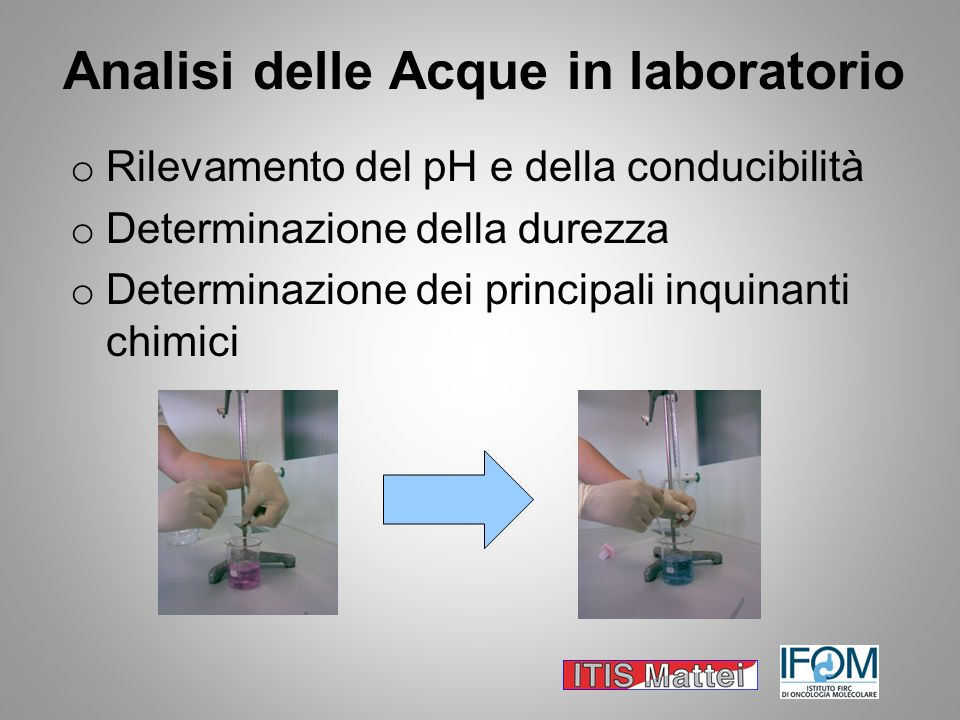 Analisi delle Acque in laboratorio