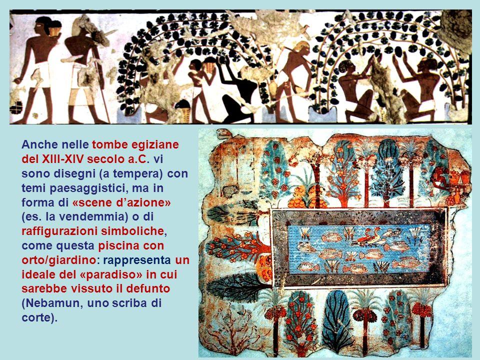 Anche nelle tombe egiziane del XIII-XIV secolo a. C