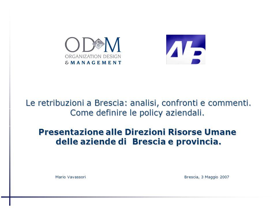 Le retribuzioni a Brescia: analisi, confronti e commenti.