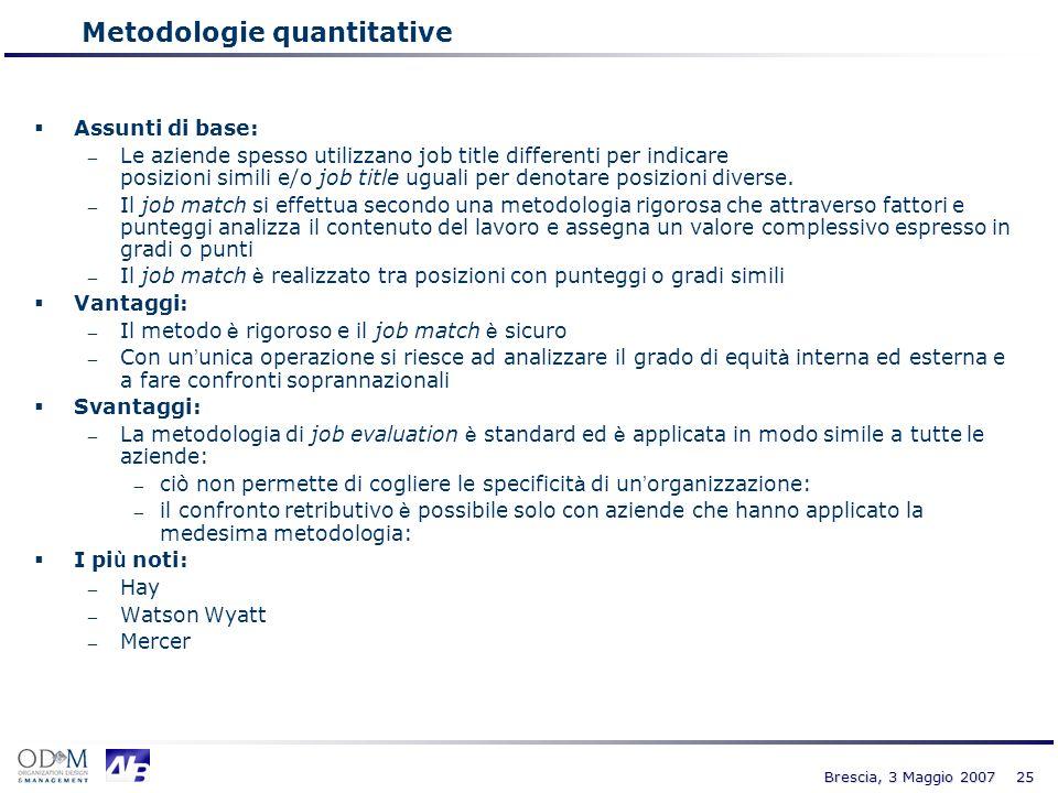 Metodologie quantitative