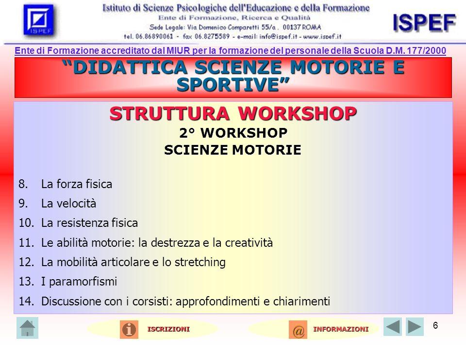 DIDATTICA SCIENZE MOTORIE E SPORTIVE
