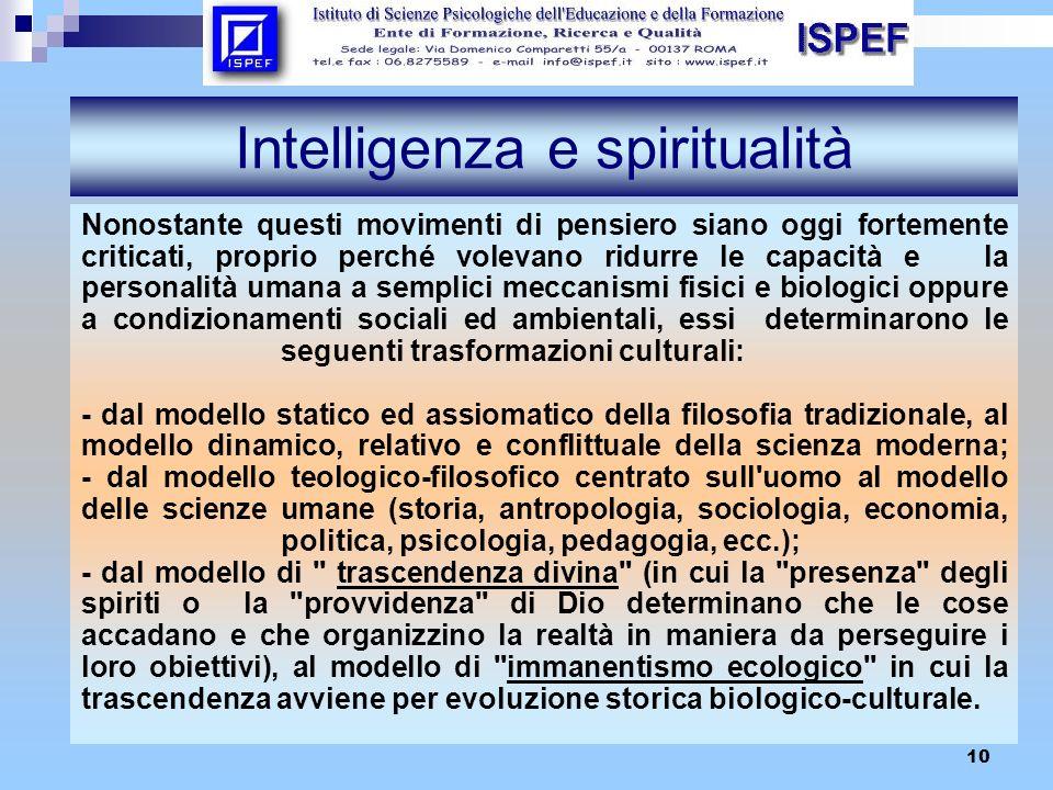 Intelligenza e spiritualità