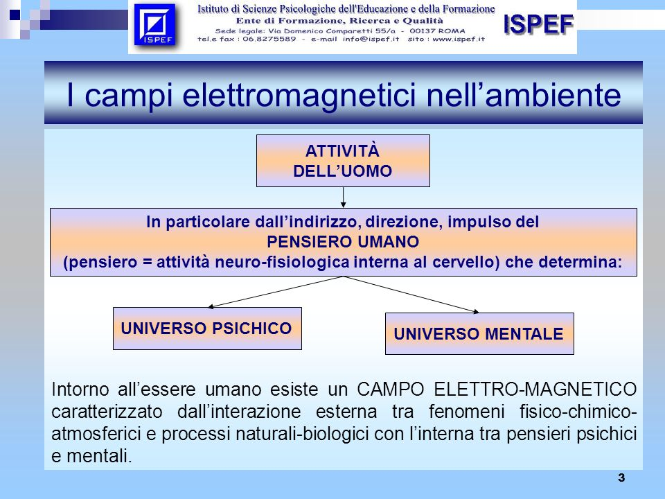 I campi elettromagnetici nell'ambiente