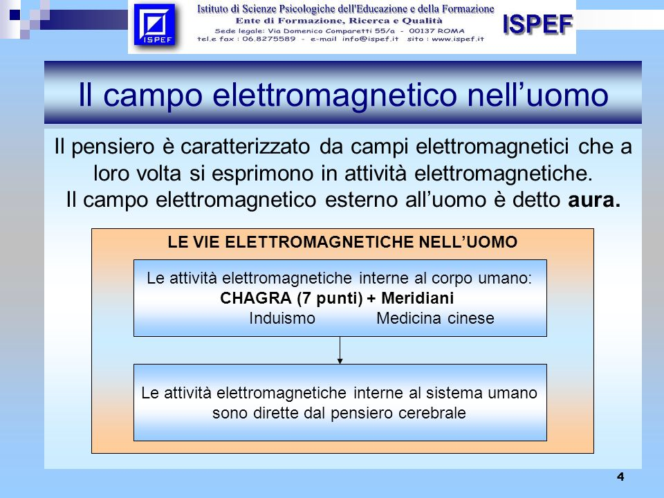 Il campo elettromagnetico nell'uomo