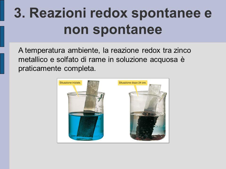 3. Reazioni redox spontanee e non spontanee