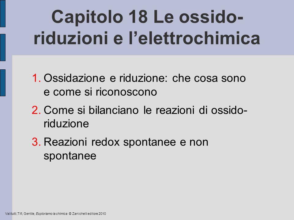 Capitolo 18 Le ossido-riduzioni e l'elettrochimica
