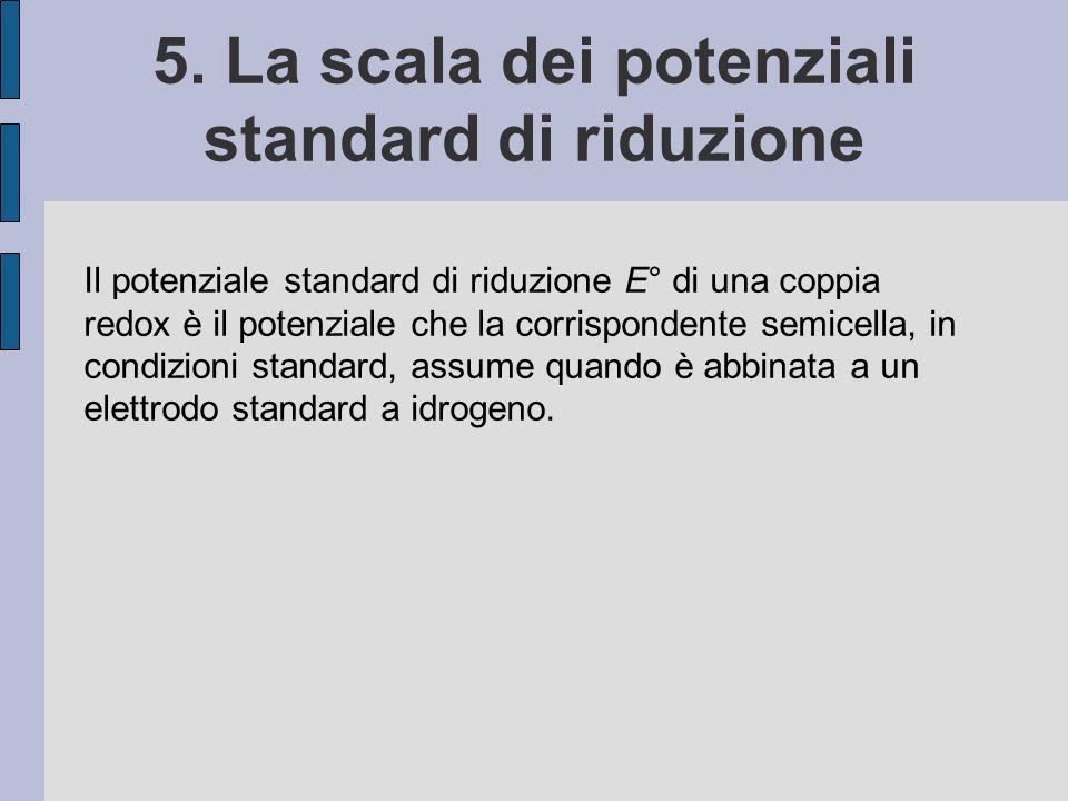 5. La scala dei potenziali standard di riduzione