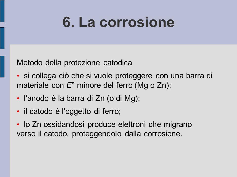 6. La corrosione Metodo della protezione catodica