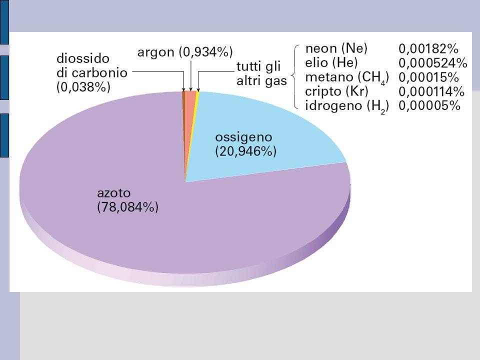 Figura 1. 1 La composizione dell aria pulita e secca