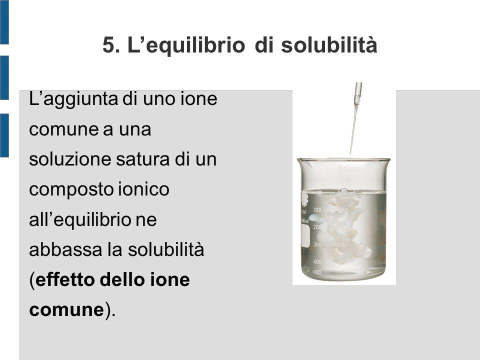 5. L'equilibrio di solubilità