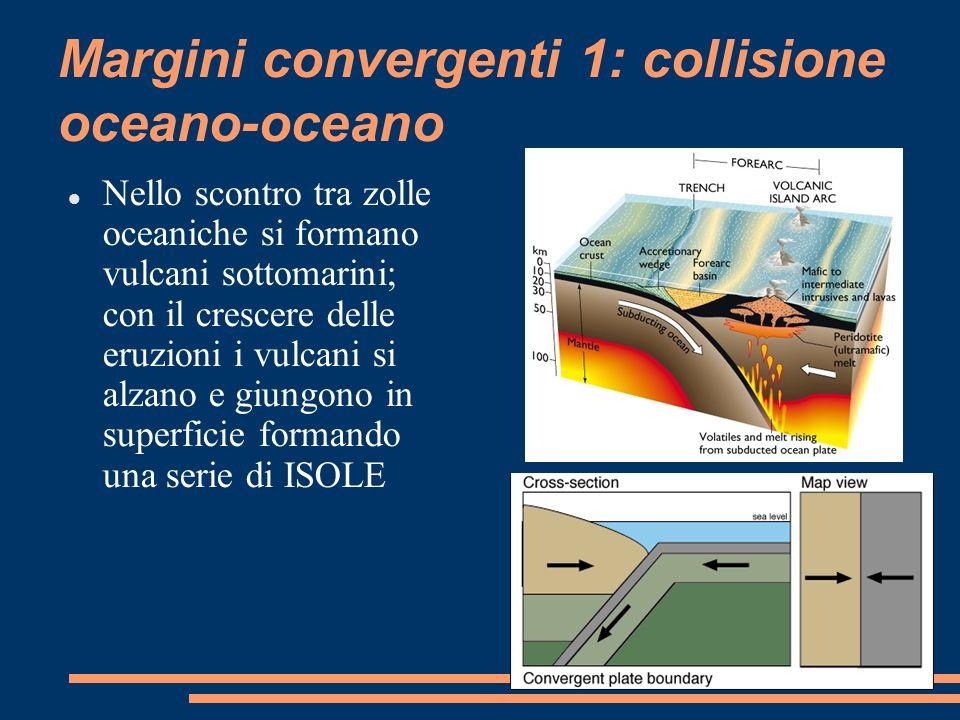 Margini convergenti 1: collisione oceano-oceano