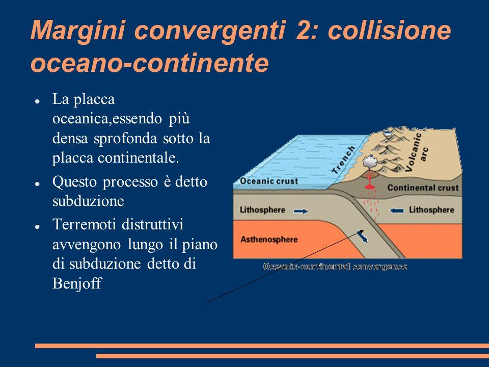 Margini convergenti 2: collisione oceano-continente