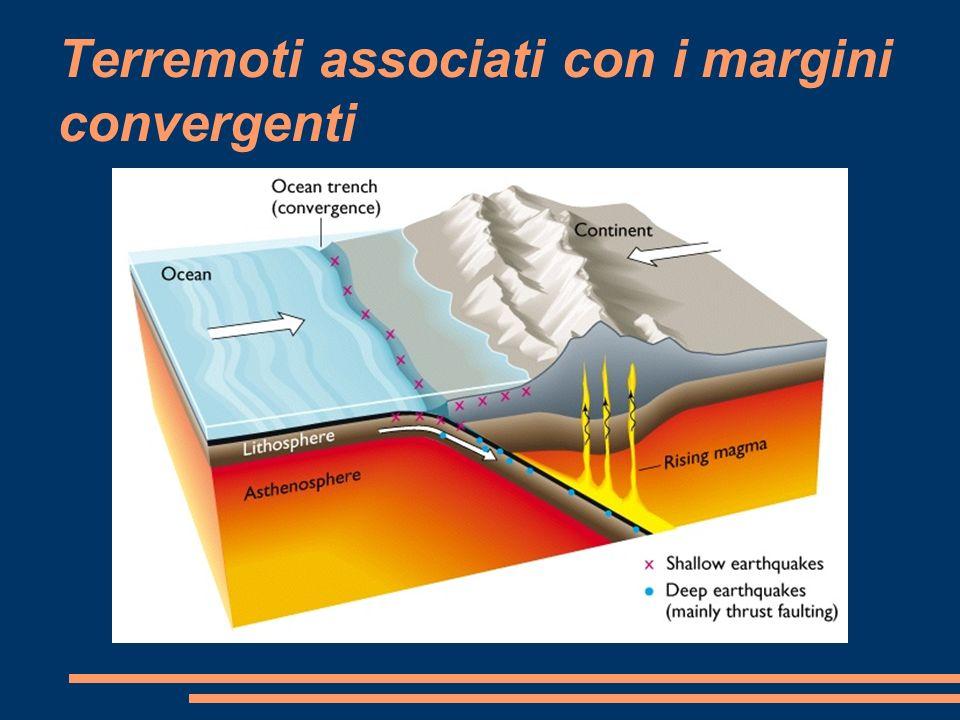 Terremoti associati con i margini convergenti