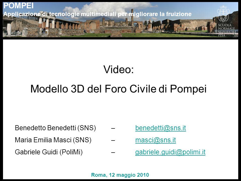 Modello 3D del Foro Civile di Pompei