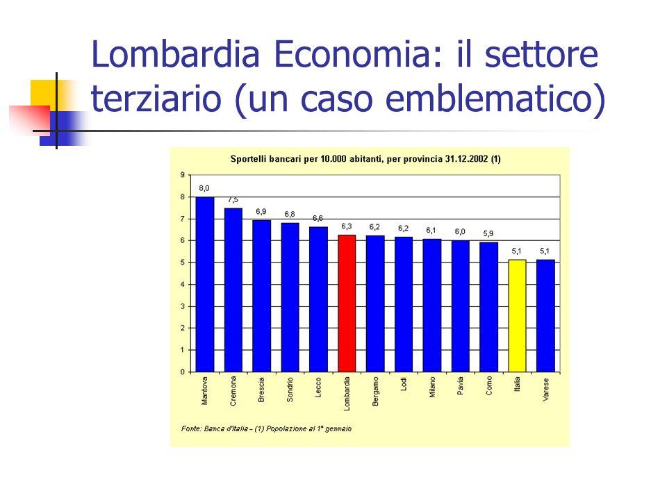 Lombardia Economia: il settore terziario (un caso emblematico)