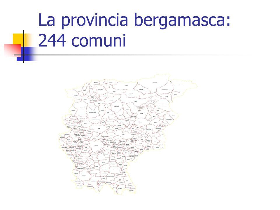 La provincia bergamasca: 244 comuni
