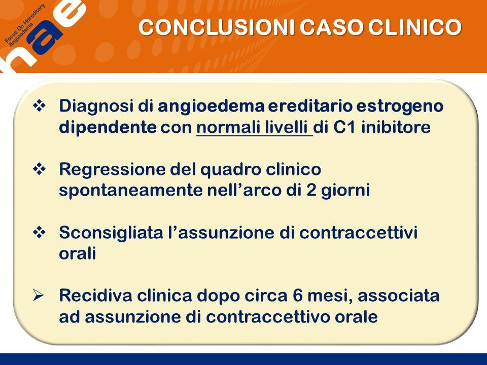 CONCLUSIONI CASO CLINICO