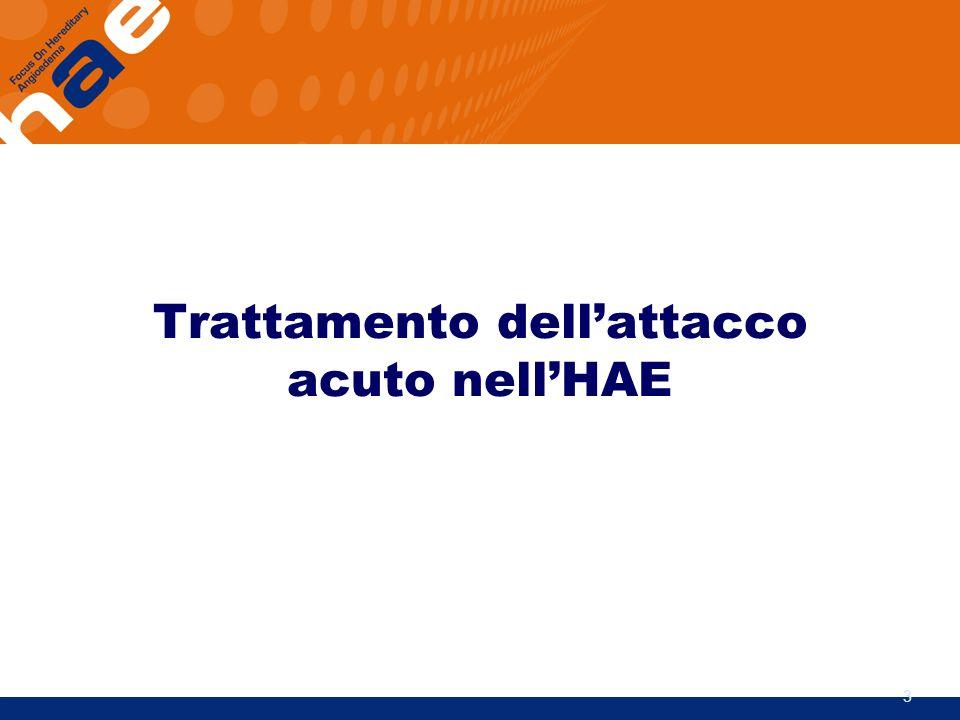 Trattamento dell'attacco acuto nell'HAE