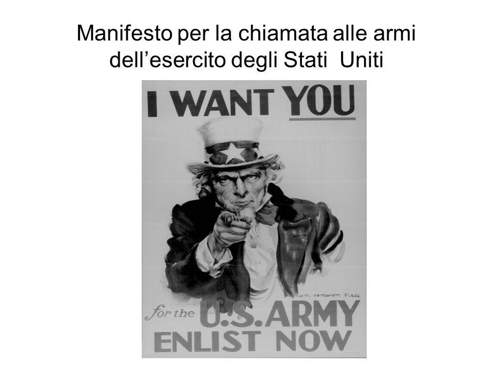 Manifesto per la chiamata alle armi dell'esercito degli Stati Uniti