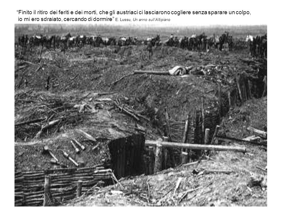 Finito il ritiro dei feriti e dei morti, che gli austriaci ci lasciarono cogliere senza sparare un colpo,