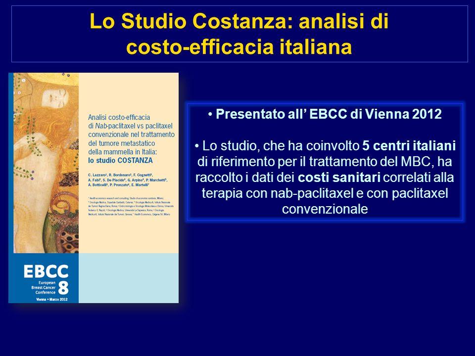Lo Studio Costanza: analisi di costo-efficacia italiana