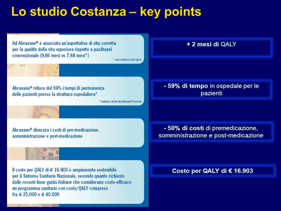Lo studio Costanza – key points