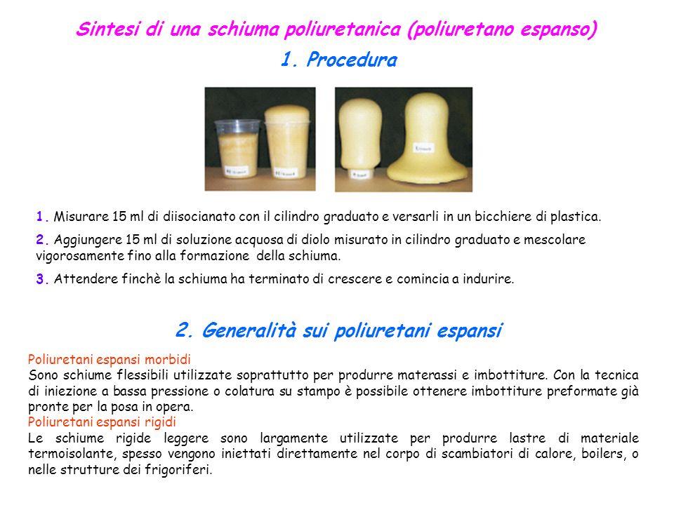 Sintesi di una schiuma poliuretanica (poliuretano espanso)