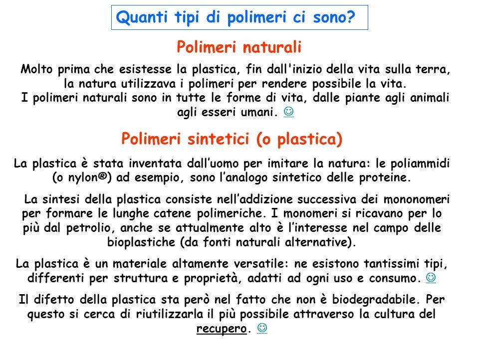 Polimeri sintetici (o plastica)