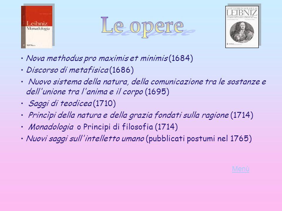 Le opere Nova methodus pro maximis et minimis (1684)