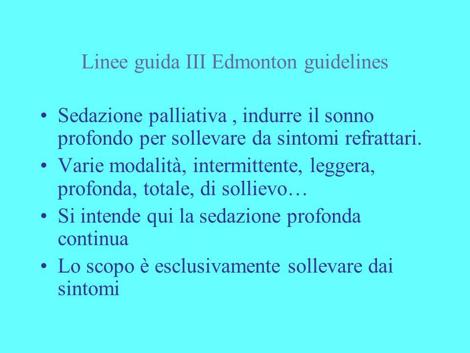 Linee guida III Edmonton guidelines