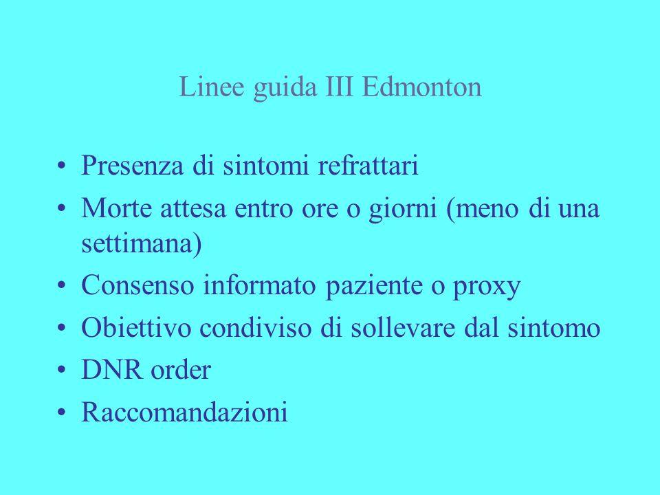 Linee guida III Edmonton