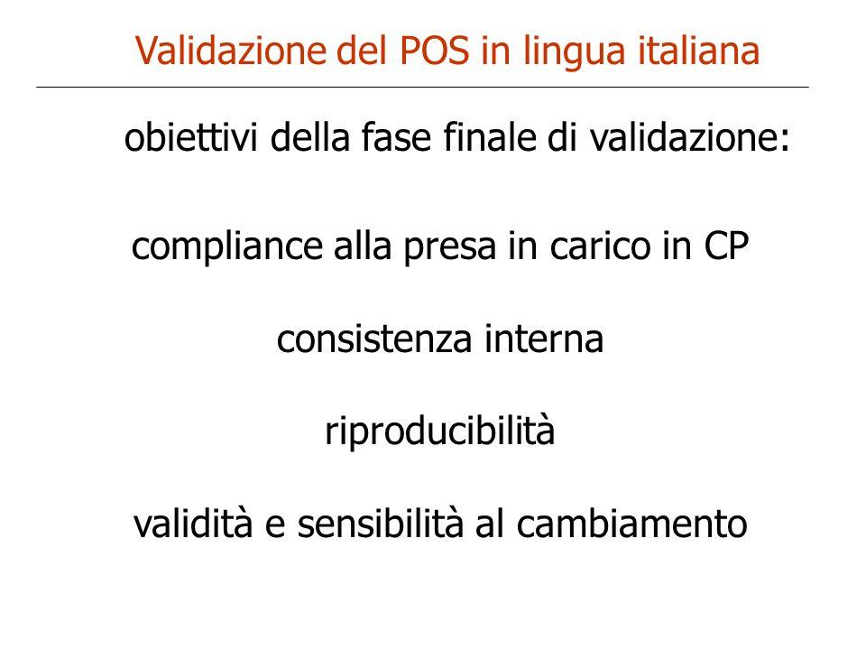 Validazione del POS in lingua italiana