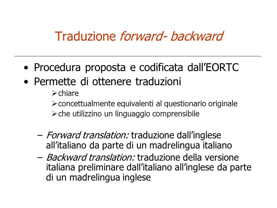 Traduzione forward- backward