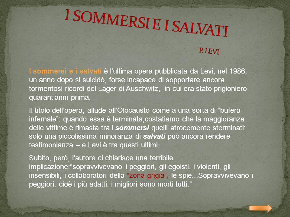 I SOMMERSI E I SALVATI P. LEVI