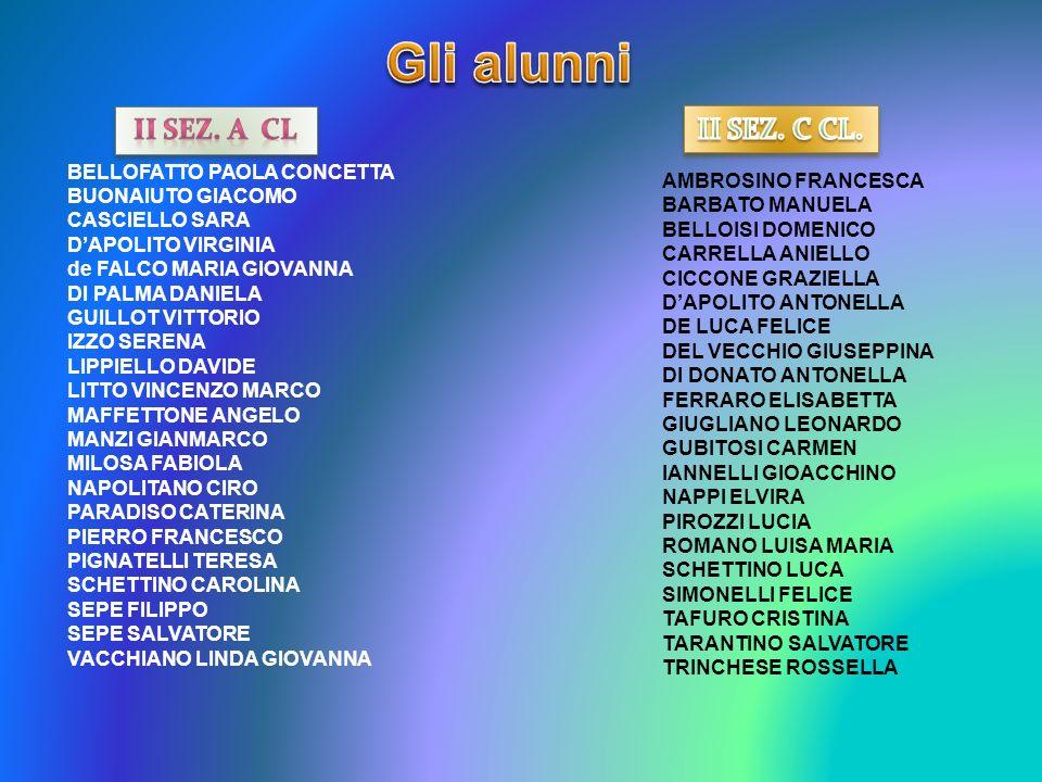 Gli alunni II SEZ. A cl II SEZ. C CL. BELLOFATTO PAOLA CONCETTA