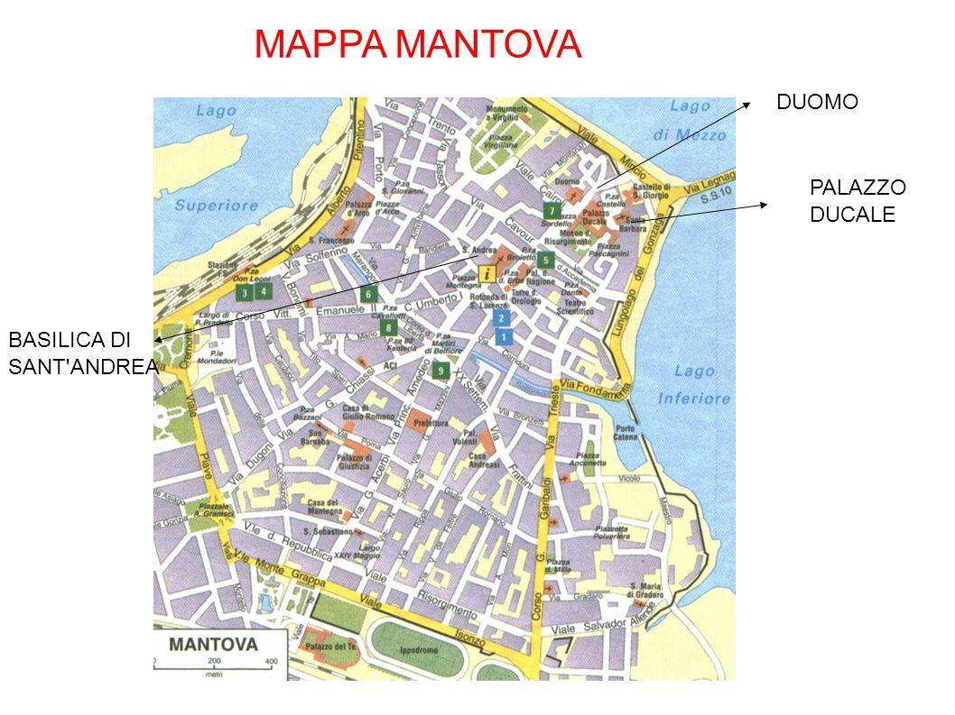 MAPPA MANTOVA DUOMO PALAZZO DUCALE BASILICA DI SANT ANDREA