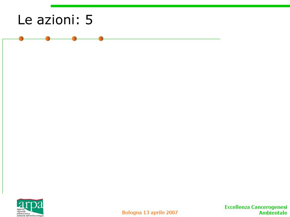 Le azioni: 5 Bologna 13 aprile 2007