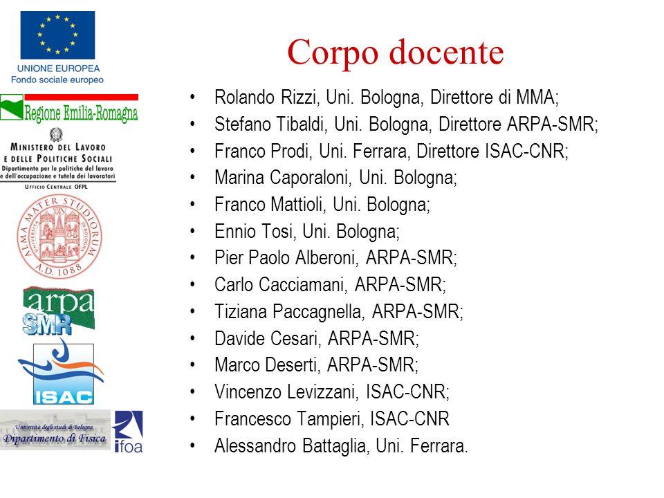 Corpo docente Rolando Rizzi, Uni. Bologna, Direttore di MMA;