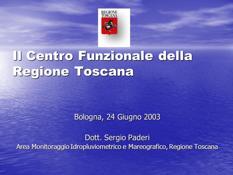 Il Centro Funzionale della Regione Toscana