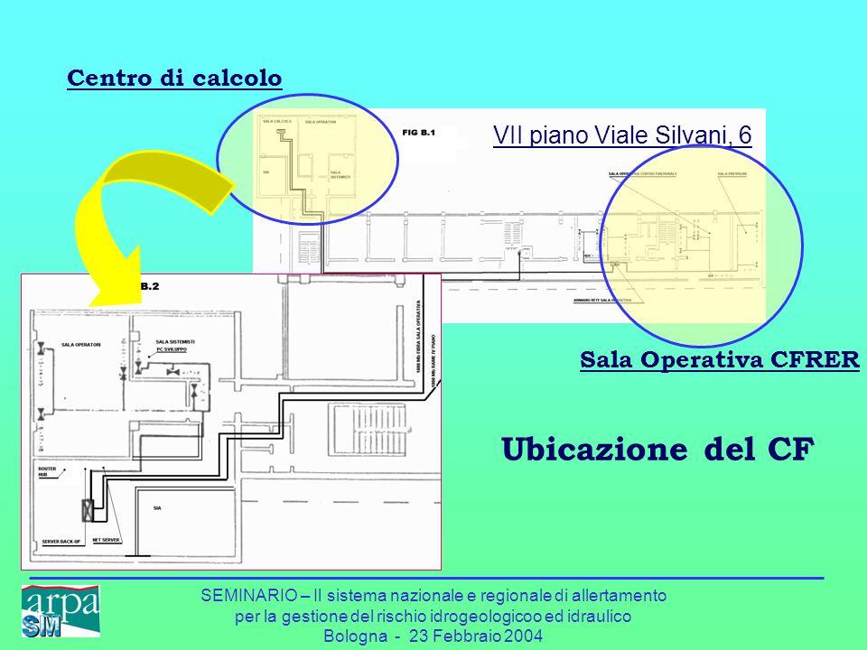 Ubicazione del CF Centro di calcolo VII piano Viale Silvani, 6