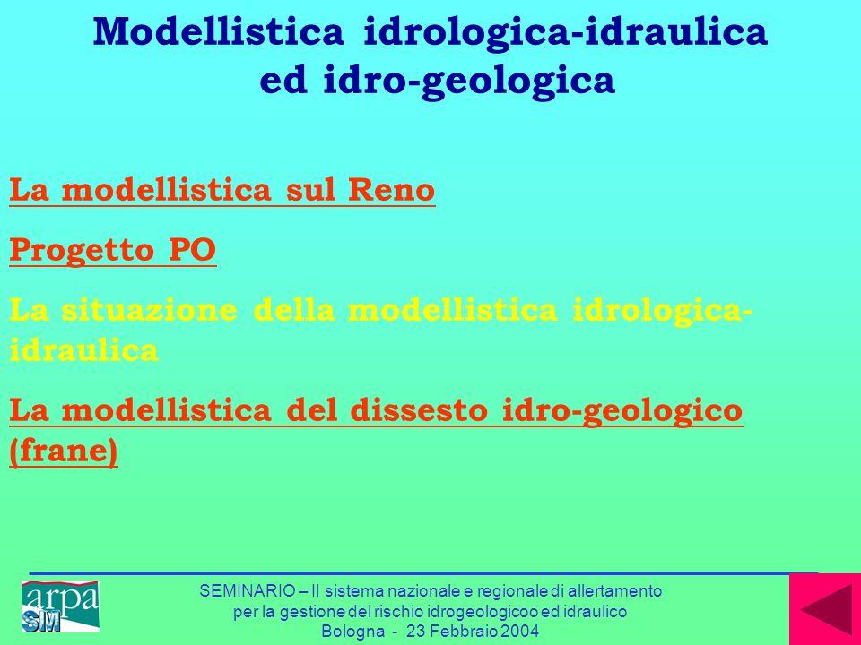 Modellistica idrologica-idraulica ed idro-geologica