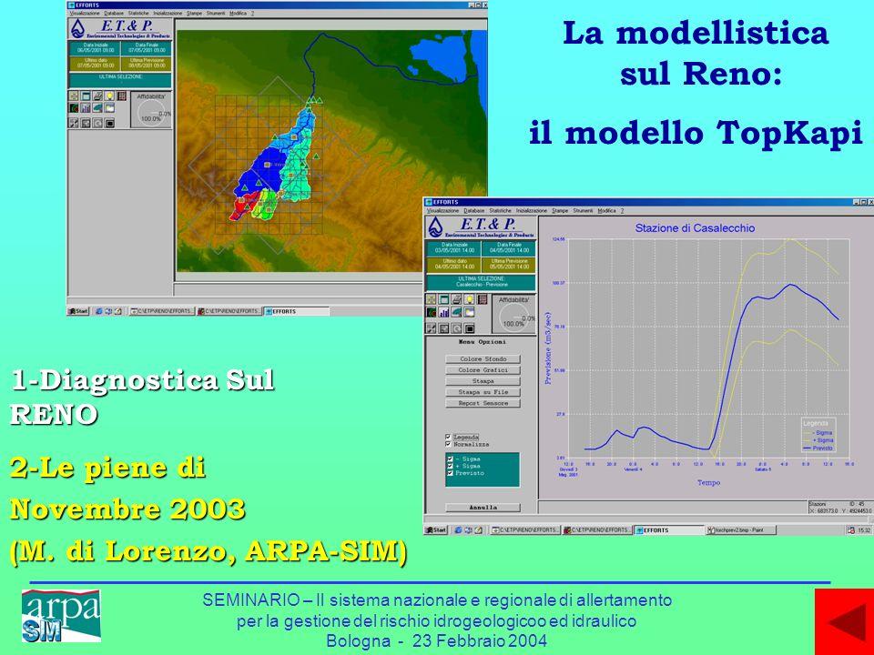 La modellistica sul Reno: il modello TopKapi
